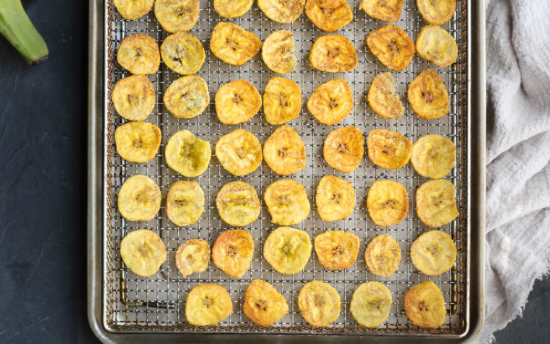 Airfryer or Oven Homemade Plantain Chips