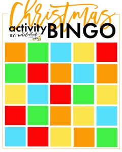 Christmas Activity Bingo Blank - Create your own family Christmas bucket list in this fun bingo format!